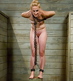 Tight blond slavegirl pushed to her limits