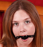 Ball-gag, chains, drool, escaping, tickling