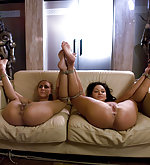 Two girls tied and prepared for sex