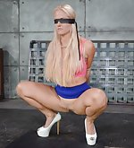 Caged, roped, blindfolded, trained to fuck